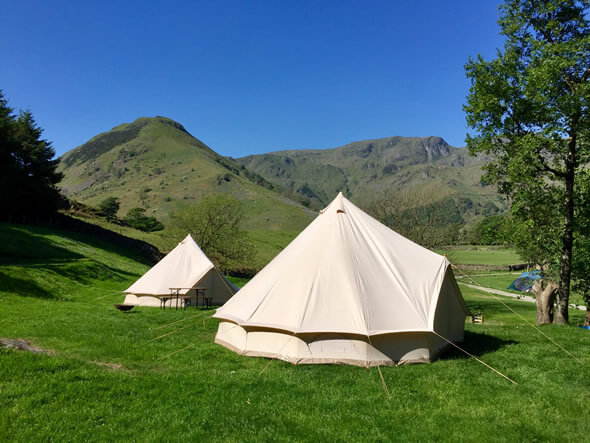 Tipi u0026 Bell Tent C&ing holidays at stunning Lake District locations & Lake District Glamping Tipi and Bell Tent Camping - Nomad events