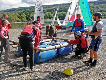 Raft Building In The Lakes